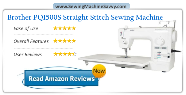 Brother PQ40SL High Speed Straight Stitch Sewing Machine Review Classy Brother Pq1500sl Sewing Machine